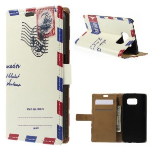 Folio Leather Stand Wallet Case for Samsung Galaxy S6 G920 - Air Mail Envelop