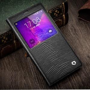 QIALINO Lizard Skin Genuine Leather Smart View Battery Housing Samsung Galaxy Note 4 N910