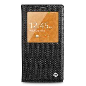 QIALINO Grid Genuine Leather Smart View Battery Housing Samsung Galaxy Note 3 N900 - Black