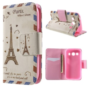 Eiffel Tower  Wallet Leather Cover for Samsung Galaxy Ace Style LTE G357FZ / Ace 4 G357FZ with Stand