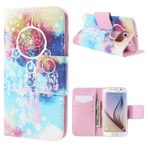 Dream Catcher Leather Wallet Stand Case for Samsung Galaxy S6 G920