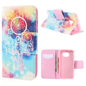Dream Catcher Leather Wallet Case for Samsung Galaxy S6 Edge G925 with Stand