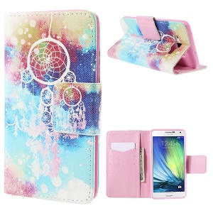Dream Catcher Leather Wallet Stand Case for Samsung Galaxy A7 SM-A700F