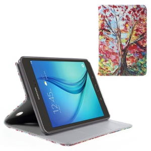 Stand Leather Cover for Samsung Galaxy Tab A 8.0 T350 - Colorful Tree Painting