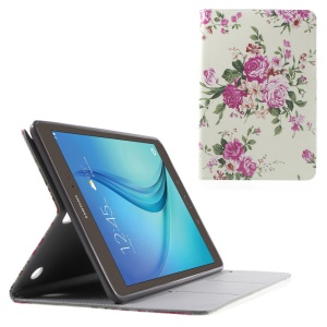 Pretty Peony Flip Leather Cover for Samsung Galaxy Tab A 9.7 T550 T555