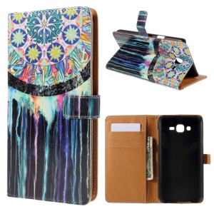 Wallet Leather Cover Samsung Galaxy J7 SM-J700F with Stand - Dream Catcher