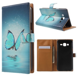 Wallet Leather Cover for Samsung Galaxy J5 SM-J500F - Blue Butterfly