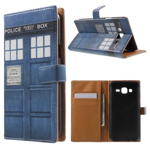 Wallet Leather Cover for Samsung Galaxy J5 SM-J500F - Police Public Call Box