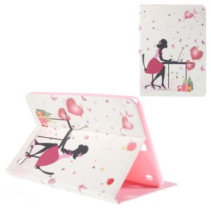 Leather Cover for Samsung Galaxy Tab A 9.7 T550 with Stand - Balloon and Lady