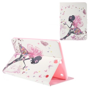 Leather Cover for Samsung Galaxy Tab A 9.7 T550 with Stand - Flower and Butterfly