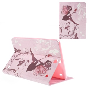 Leather Cover for Samsung Galaxy Tab A 9.7 T550 with Stand - Flying Fairy and Butterfly