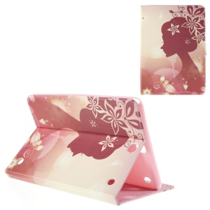 Leather Cover for Samsung Galaxy Tab A 9.7 T550 with Stand - Beautiful Lady