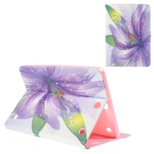 Leather Cover for Samsung Galaxy Tab A 9.7 T550 with Stand - Purple Flower