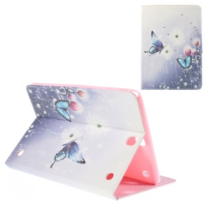 Leather Cover for Samsung Galaxy Tab A 9.7 T550 with Stand - Flower World and Blue Butterfly