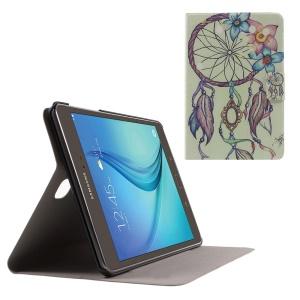 Sweet Fragrance PU Leather Case for Samsung Galaxy Tab A 8.0 T350 - Flower Feather Campanula