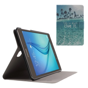 Sweet Fragrance Leatherette Case for Samsung Galaxy Tab A 8.0 T350 - Life Is Short Live It