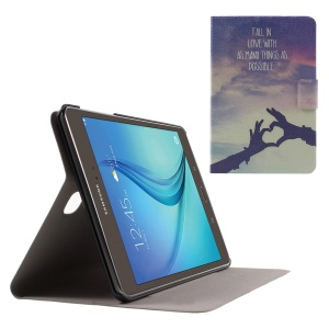 Sweet Fragrance Leatherette Cover for Samsung Galaxy Tab A 8.0 T350 - Love Gesture and Quote