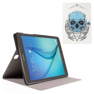 Sweet Fragrance Leather Cover for Samsung Galaxy Tab A 9.7 T550 T555 - Blue Skull