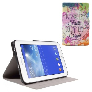 Flip Perfume Smell Leather Case for Samsung Galaxy Tab 3 Lite 7.0 T110 T111 - Live by Faith Not by Sight