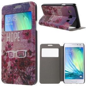 Window Leather Case with Fragrance for Samsung Galaxy A3 SM-A300F - Hope in the Things Unseen