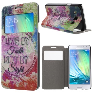 Stand Leather Case with Fragrance for Samsung Galaxy A3 SM-A300F - Live by Faith Not by Sight