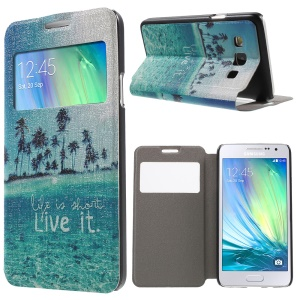Fragrance Window Leather Cover for Samsung Galaxy A3 SM-A300F - Life Is Short Live It
