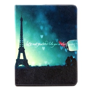 Patterned Flip Wallet Stand PU Leather Case for iPad 2 3 4 - Eiffel Tower