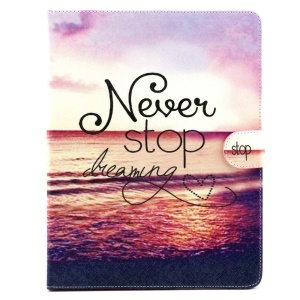 Magnetic Wallet Stand Leather Protective Shell for iPad 2 3 4 - Never Stop Dreaming