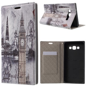 PU Leather Stand Cover for Samsung Galaxy A8 SM-A800F - Big Ben