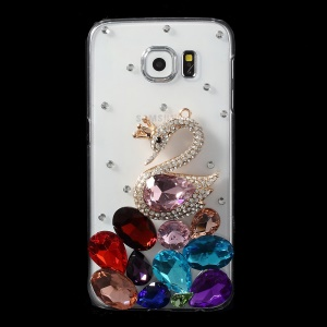 Swan Crystals Coated PC Case for Samsung Galaxy S6 G920