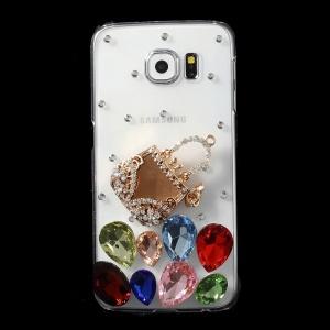 Mini Handbag Crystals Coated PC Case for Samsung Galaxy S6 G920