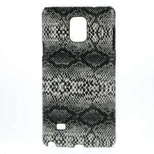 Snake Skin Hard Case for Samsung Galaxy Note 4 N910 - Black