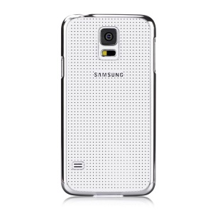 Devia Glimmer Series for Samsung Galaxy S5 G900 Dot Pattern Hard PC Cover - Silver