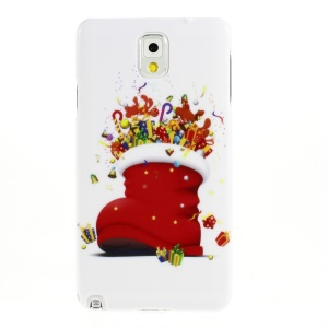 Christmas Boot & Gifts Pattern Smooth Hard Plastic Case for Samsung Galaxy Note 3 N9005 N9002 N9000