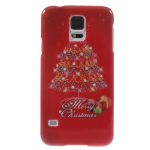 Christmas Tree & Stars Pattern Plastic Case for Samsung Galaxy S5 G900 i9600
