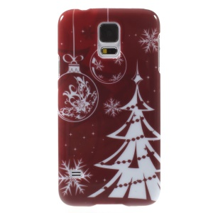 Christmas Tree & Snowflakes Pattern Plastic Case for Samsung Galaxy S5 G900 i9600