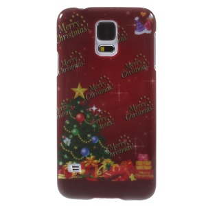Christmas Style Plastic Case for Samsung Galaxy S5 G900 i9600 - Christmas Tree & Gifts