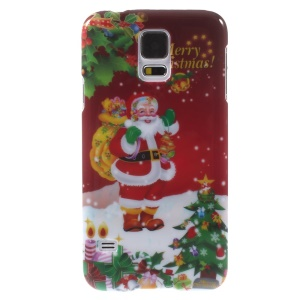 Christmas Style Plastic Case for Samsung Galaxy S5 G900 i9600 - Christmas Santa with Gifts