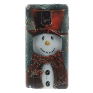 Christmas Snowman PC Hard Back Case for Samsung Galaxy Note 4 N910