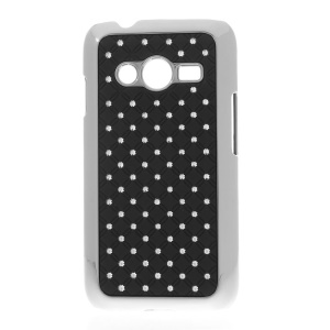 Rhinestone Starry Sky Plated PC Hard Case for Samsung Galaxy Ace NXT G313H - Black