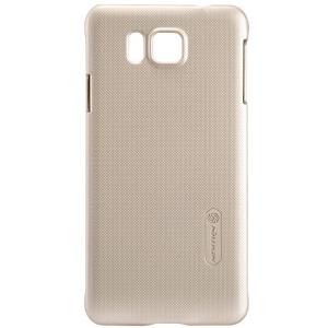 NILLKIN Super Frosted Shield Hard Shell for Samsung Galaxy Alpha SM-G850F SM-G850A w/ Screen Flim - Gold