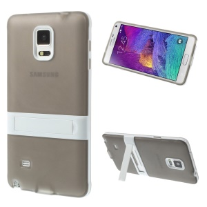 Kickstand 2 in 1 TPU + PC Hybrid Shell for Samsung Galaxy Note 4 N910 - Grey