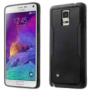 Black Matte PC + TPU Edges Combo Case for Samsung Galaxy Note 4 N910 N910S