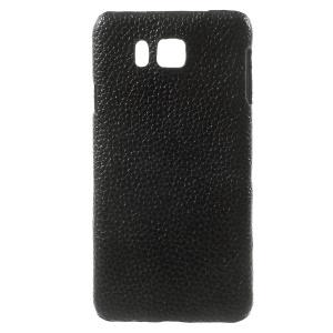For Samsung Galaxy Alpha SM-G850F SM-G850A Genuine Full Grain Litchi Skin Leather Hard Case - Black