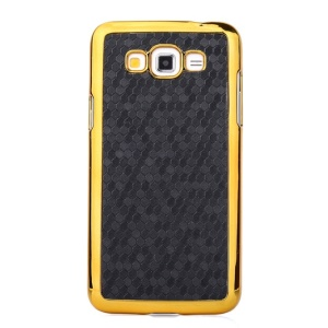 For Samsung Galaxy Grand 3 G7200 Football Pattern Leather Coated Hard Cover - Black