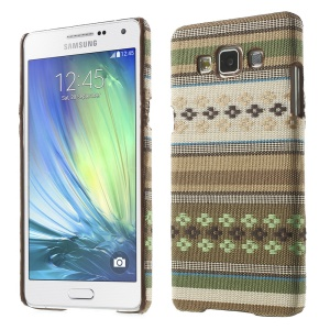 Tribal Style Textile Coated Hard PC Case for Samsung Galaxy A5 SM-A500F - Green