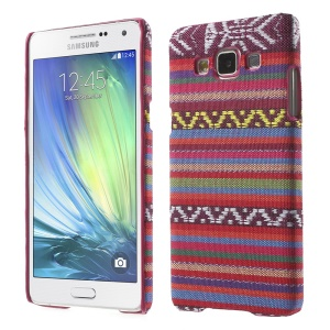 Tribal Pattern Textile Coated Hard Plastic Cover for Samsung Galaxy A5 SM-A500F - Rose