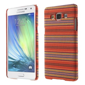 Tribal Pattern Textile Coated Hard Plastic Shell for Samsung Galaxy A5 SM-A500F - Orange