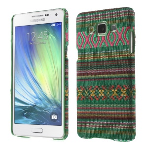 Tribal Pattern Textile Coated Hard Plastic Case for Samsung Galaxy A5 SM-A500F - Army Green