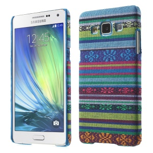 Tribal Pattern Textile Coated Hard Plastic Shell for Samsung Galaxy A5 SM-A500F - Baby Blue